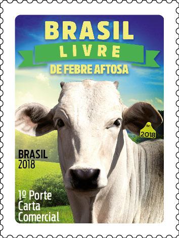 Selo dos Correios celebra conquista da pecuária brasileira