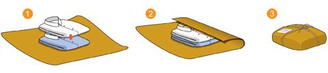 Objetos flexíveis que podem amassar (tecidos, roupas, borrachas, etc.)