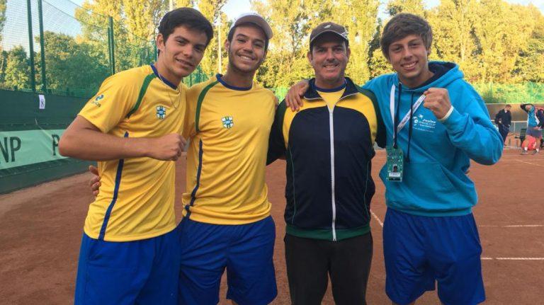 Esporte Time Correios Brasil vence EUA e se classifica para as quartas da Copa Davis Junior