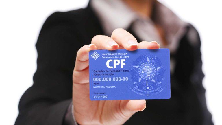Inscrição e regularização de dados do CPF