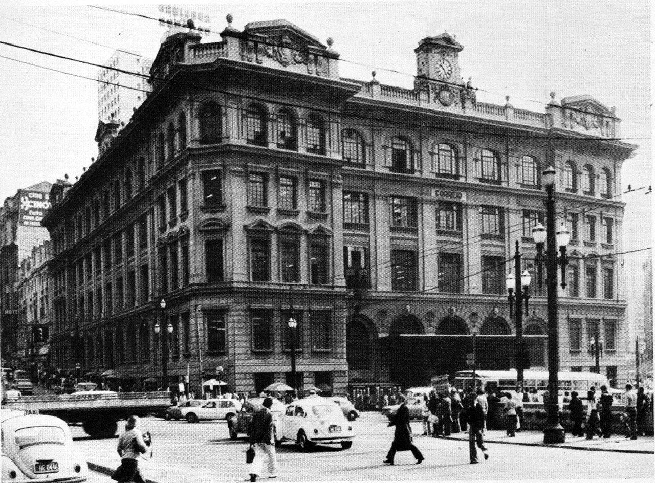 foto antiga agencia correios sp