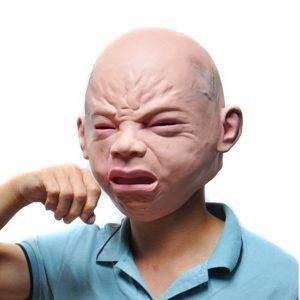 máscara de bebe chorando