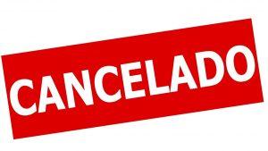 cancelar cancelado cancelamento